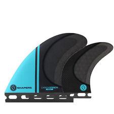 Shapers Fins - Stealth Quad (Futures) - Aqua Blue - Small - Surfboard Fins