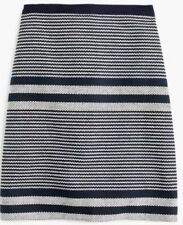NWT JCREW Tall A-line skirt in striped navy tweed Sz12T G3224  SP17 SOLDOUT!