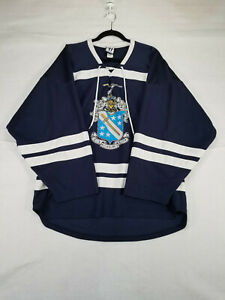 Vintage LaCrosse Jersey Mens Large Blue White Authentic Warrior Big Day #17 Game