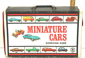 Vintage 1966 Mattel Miniature Cars Carrying Case Two Original Display Trays Nice