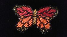Hand beaded beautiful butterfly hair clip