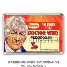 Doctor Who Nestles CHOCOLATE BAR BOX ART - JON PERTWEE - JUMBO FRIDGE MAGNET