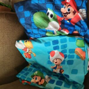 Super Mario Twin Sheet Flat & Fitted READ DESCRIPTION crafts