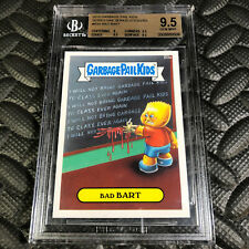 GARBAGE PAIL KIDS 2015 SERIES 1 B3A BAD BART BONUS CARD BECKETT 9.5 GEM MINT W@W