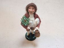 Byers Choice 2003 Williamsburg Exclusive MAN WITH BIRD CAGE POT AND BAG SALE