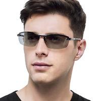Photochromic Sunglasses Men Transition Lens Glasses HD Polarized Driving Eyewear