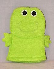 Greenbrier International Kids Bath Time Fun Bath Mitt Puppet - New -Green Frog