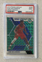 Zion Williamson 2019 RC Rookie Panini Mosaic #269 NBA Debut GREEN Prizm PSA 9