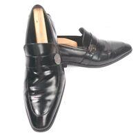 VERSACE COLLECTION Black Leather Loafer Shoes US 8 1/2 Euro 40 Medusa Medallion