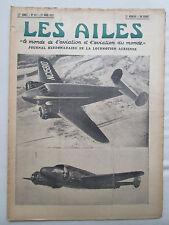 AILES 1937 827 BEECHCRAFT 18 LOIRE NIEUPORT 161 RAID JAPON LE BOURGET