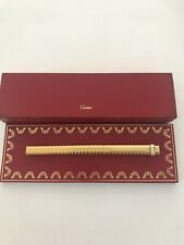 authentic Cartier Stylo Vendome Trinity Gold Plated Ballpoint Pen W/Box & Papers