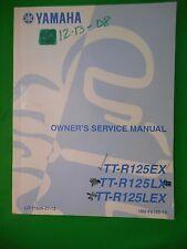 NOS Yamaha Owner's Service Manual LIT-11626-21-13 OEM TT-R125EX/LX/LEX