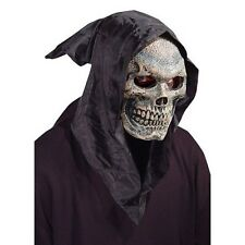 Hooded Skull Mask Flexi Face Thin Latex Realistic Halloween Cosplay Scary Hood