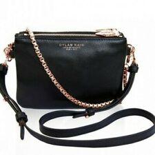 Dylan Kain Original LSC Handbag Black Rose Gold Leather Wallet Clutch Bag