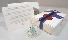 Boxed Swarovski Crystal Collectors Society SCS Daisy Green Centre Renewal Gift