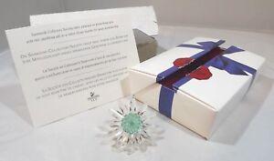 Boxed Swarovski Crystal Collectors Society SCS Daisy Green Centre Renewal Gift