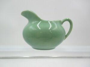 VINTAGE BAUER POTTERY USA Rare 1930's Jade Green Pitcher