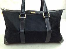 Auth Celine mini Boston Bag Canvas Black hand bag purse 5D213230