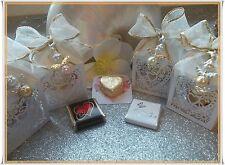 cadeau pour invités strass ange pendentif coeur boîte chocolat mariage baptême