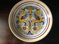 "Ceramica nova Deruta Raffaellesco Dragons Pasta Bowl 12"" Made In Italy"