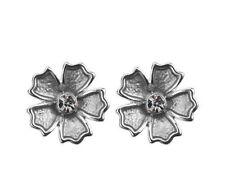 Crystal Butterfly Fastening Enamel Stud Costume Earrings