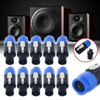 10pcS LOT Speakon Male Plug Speaker 4 Pole Conductor Audio Cable Connector Set