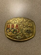 Usa 1988 Shooting Team Olympics Gold Belt Buckle