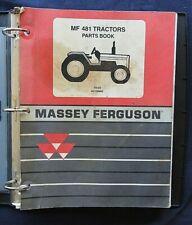 2002 2006 Massey Ferguson Mf 481 Tractor Parts Catalog Manual Good Shape
