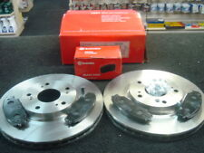 FOR HONDA CIVIC TYPE R EP3 BREMBO BRAKE DISC & PADS FRONT 300MM