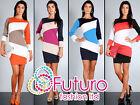 Women's Trendy & Elegance Shift Dress Pencil Style Multicolor Size 8-14 FA44