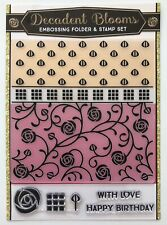 Rose Flower Birthday Love Embossing Folder and Clear Stamp Set Card Making