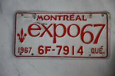 Original Autonummer der Provinz QUÉBEC   CANADA