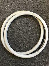 """1 pair 24"""" x 1 3/8"""" Grey wheelchair tyres. Duro branded. Clearance line."""