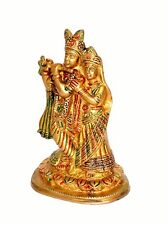 "Brass Radha Krishna Murti Idol Statue Sculpture 6.75"" Showpiece Figurine"