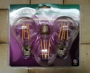 Sylvania 7W Warm White 2700K LED Filament E27 Light Bulb 806 Lumen (=60W) A60 V2