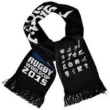 Official Rugby World Cup 2015 20 Nations England Script Black Knitted Scarf BNWT