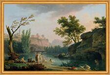 Summer Evening, Landscape in Italy C. Joseph Vernet Italien Sommer B A2 01192