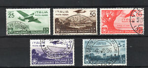 ITALY 1935 ITALIAN AIR AEREA COMPLETE SET OF USED STAMPS GOOD POSTMARK