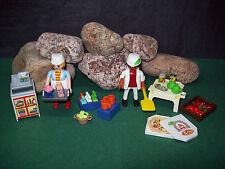 Playmobil Serviererin mit Kasse wie 5292 u. Pizzabäcker wie 6392, ohne OVP!
