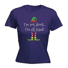 Im Not Short Im Elf Sized Ladies T-SHIRT Tee Funny Present Gift santa Xmas