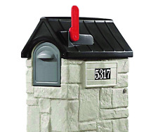 Step2 53-3/8 in. MailMaster StoreMore Plastic Mailbox Rural Post Mount Mail Box