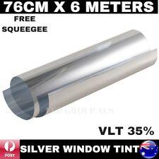 35% SILVER GREY MIRROR REFLECTIVE WINDOW TINT FILM GLASS SOLAR HOME 76CM X 6M