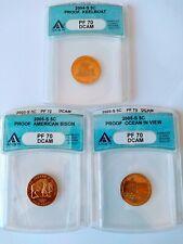 2004-S & 2005-S Westward Journey Nickel Set (3 Coins) ANACS PF70DCAM