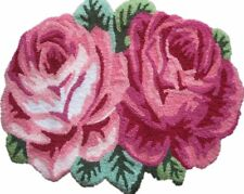 Rose Shaped Rug Handmade Sofa Rug Runner Bedroom Mats Area Rugs Home gardon