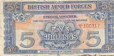 British Armed Forces  5/-  ND.1948 2nd. Series M20c Circulated Banknote EM30EP
