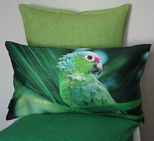 Kissen Kissenhülle Jacco 30x50 Dekokissen Papagei grün Pink Proflax