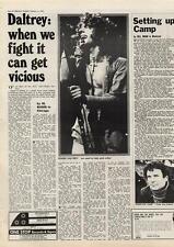 Who The Daltrey When We Fight Hamilton Camp MM4 Interview 1974