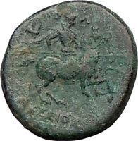 KOLOPHON Ionia 320BC Apollo  Healing God Horse Rare Ancient Greek Coin  i21849