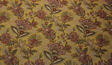 "WAVERLY JACOBEAN FLOURISH GOLD D4081 FLORAL UPHOLSTERY FABRIC BY YARD 56""W"