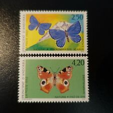 ANDORRA FRENCH N°432/433 BUTTERFLIES NEUF MNH